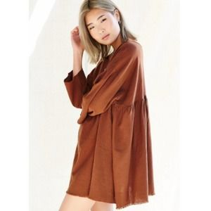 Urban Renewal Orange Linen Tunic Dress